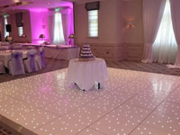 White LED Dance Floor Hire Cork
